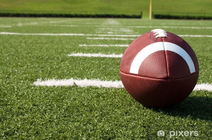 Pixerstick Sticker Close-up van Amerikaanse Voetbal op het Gebied - American Football