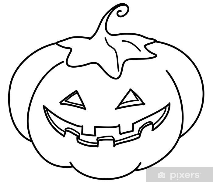 Zucca Di Halloween Da Colorare Sticker Pixers We Live To Change