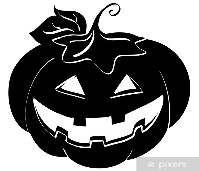 Carta da Parati Silhouette di zucca di Halloween • Pixers® - Viviamo ... c9bcd6afa8aa