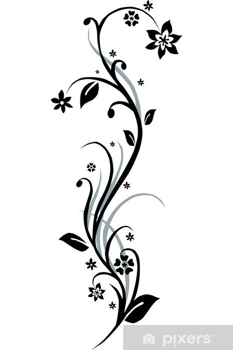 Floral Flower Black Amp White Sticker Pixers 174 We Live To