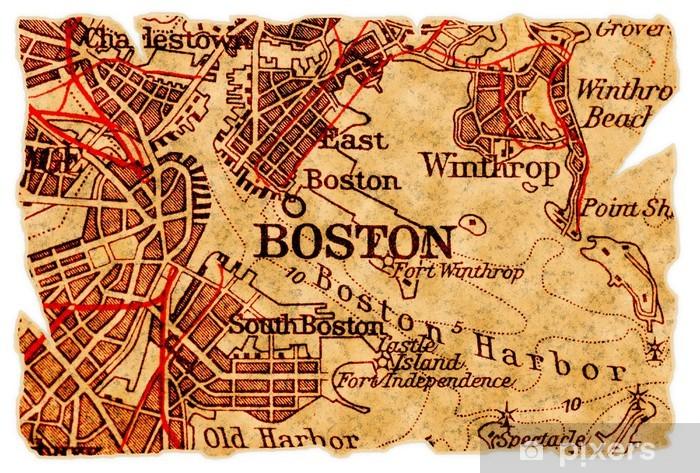 Fototapeta winylowa Boston old map - Tematy