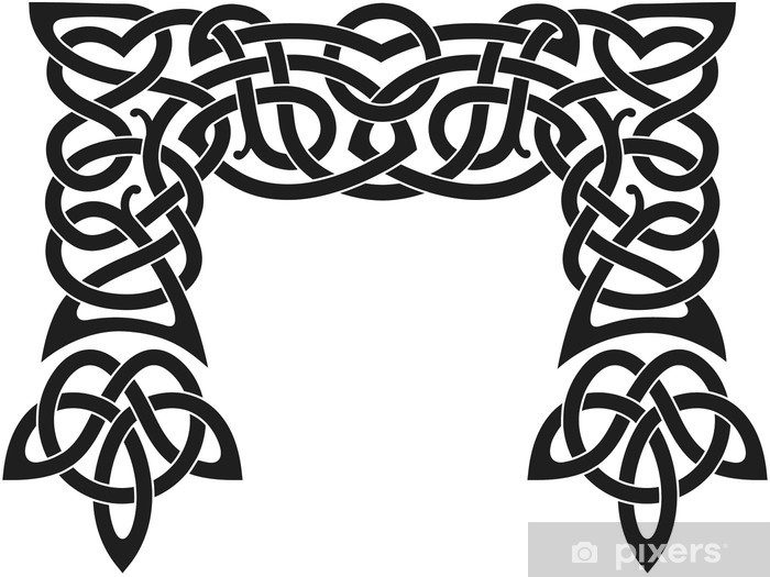 Vinyl-Fototapete Nordic-Muster - Zeichen und Symbole