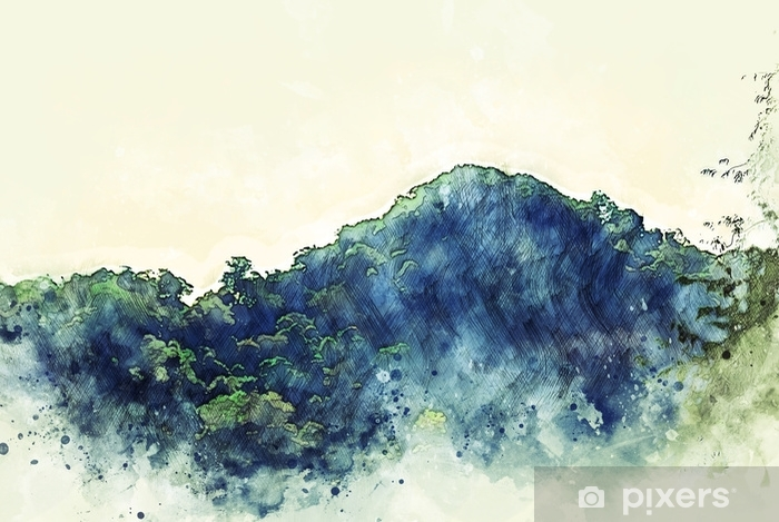 abstract mountain peak in the forest watercolor illustration painting background wall mural pixers we live to change abstract mountain peak in the forest watercolor illustration painting background wall mural pixers we live to change