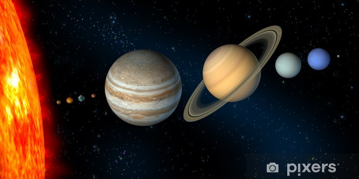 Carta da Parati in Vinile Sistema solare - Galassie