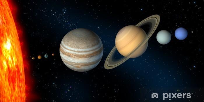 Papier peint vinyle Solar system - Étoiles