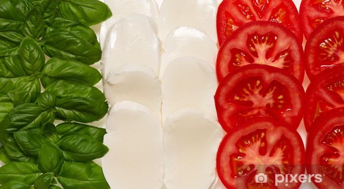 Naklejka Pixerstick Włoska flaga jedzenie - Tematy