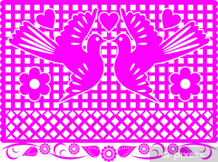 Mexican Decoration Papel Picado Wall Mural Pixers 174 We
