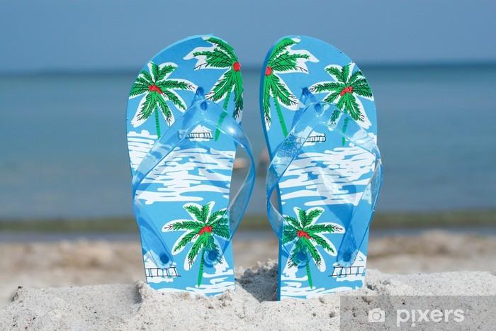 Sticker Pixerstick Flip flop - Vacances