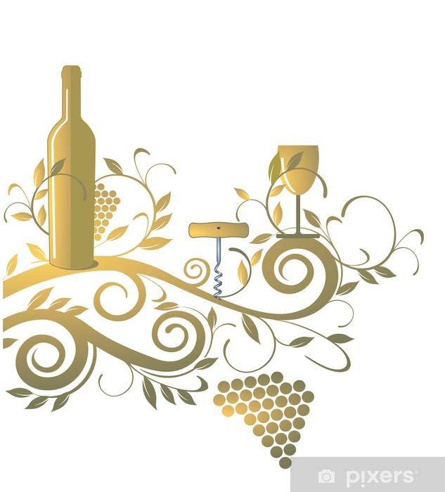 Carta da Parati in Vinile Carta dei vini - Bevande alcoliche