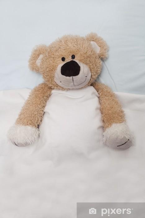 Papier peint vinyle Ours en peluche portant dans son lit - Jeux