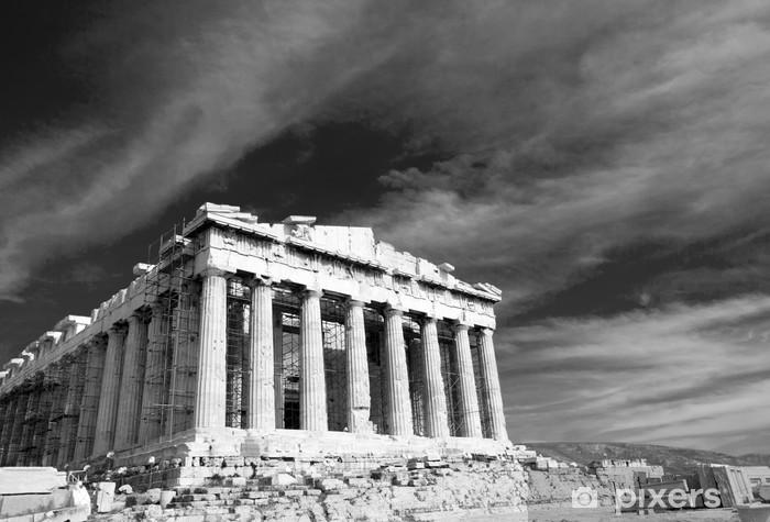 Fotomural Estándar Parthenon antiguo en la acrópolis Atenas Grecia en blanco y Negro - Temas
