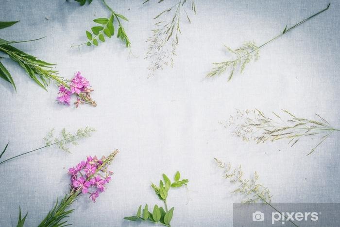 Fotomural Estándar Hermosas flores silvestres, antecedentes artísticos - Recursos gráficos