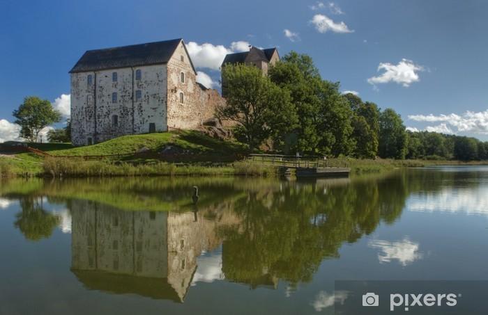 Naklejka Pixerstick Zamek Kastelholm w Wyspy Alandzkie - Europa