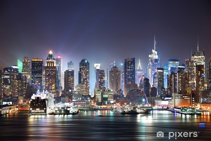 New York City Times Square Pixerstick Sticker -