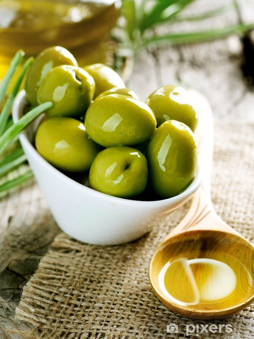 Olives and Olive Oil Pixerstick Sticker - Olives