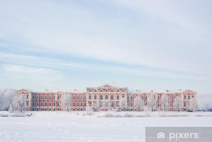 Nálepka Pixerstick Jelgava palác v zimě - Roční období