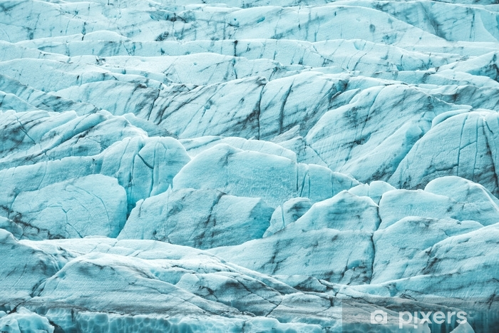 Fotomural Estándar Una foto de primer plano de un glaciar azul - Paisajes