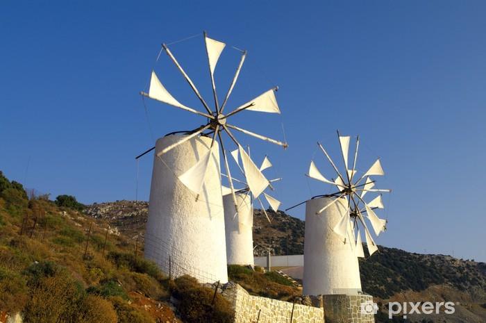 Papier peint vinyle Moulins à vent tradition grecque - Europe