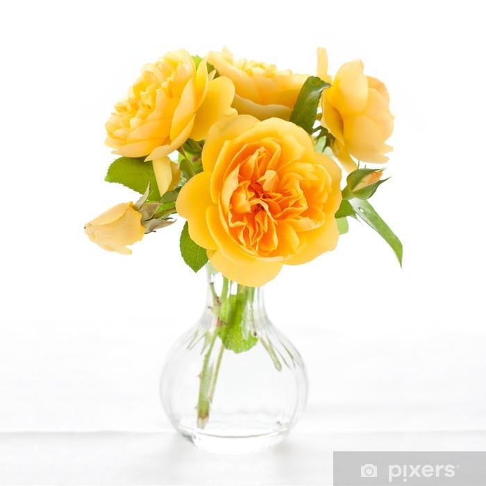 Fototapet Vackra gula rosor • Pixers® - Vi lever för förändring