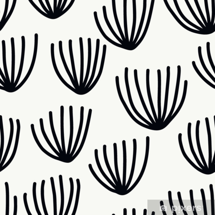 Carta da Parati Lavabile Seamless con moderni elementi floreali e astratti in freschi colori pastello. - Hobby e Tempo Libero