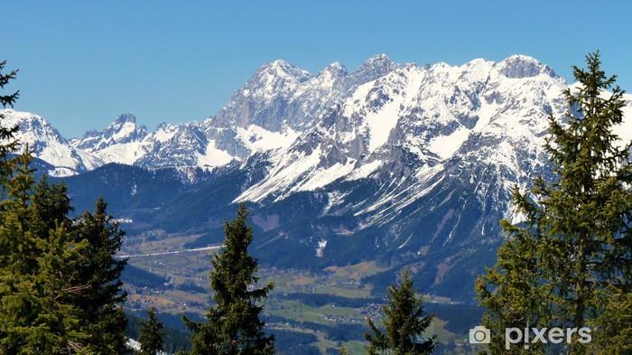 Papier peint vinyle Dachstein - Massiv - Panorama - Sports d'hiver