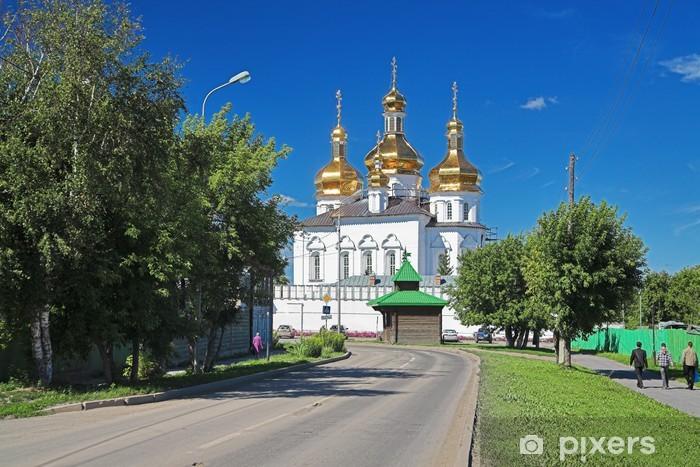 Nálepka Pixerstick Katedrála kláštera Tyumen Trojice, Rusko - Náboženství