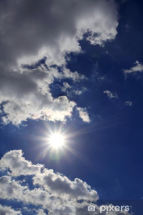 Naklejka Pixerstick Słońce i chmury na niebie - Niebo