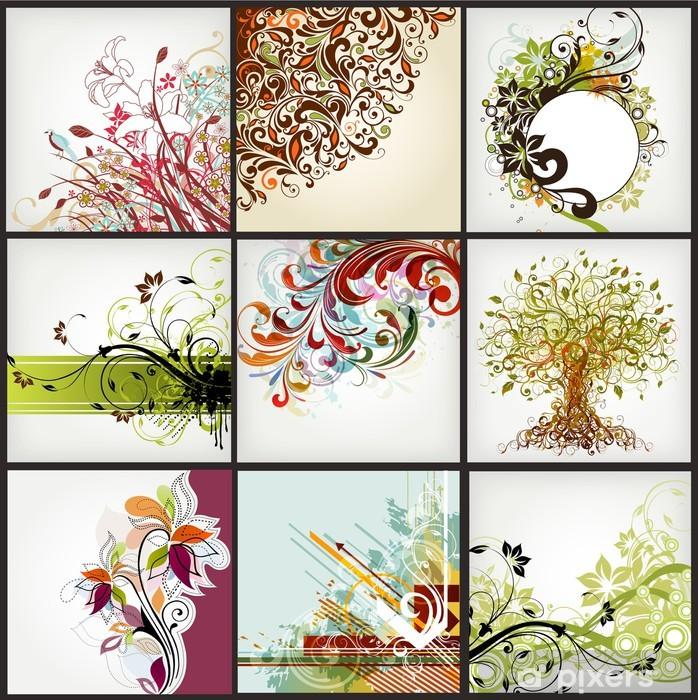 Naklejka Pixerstick Kwiatów elementów - Tematy