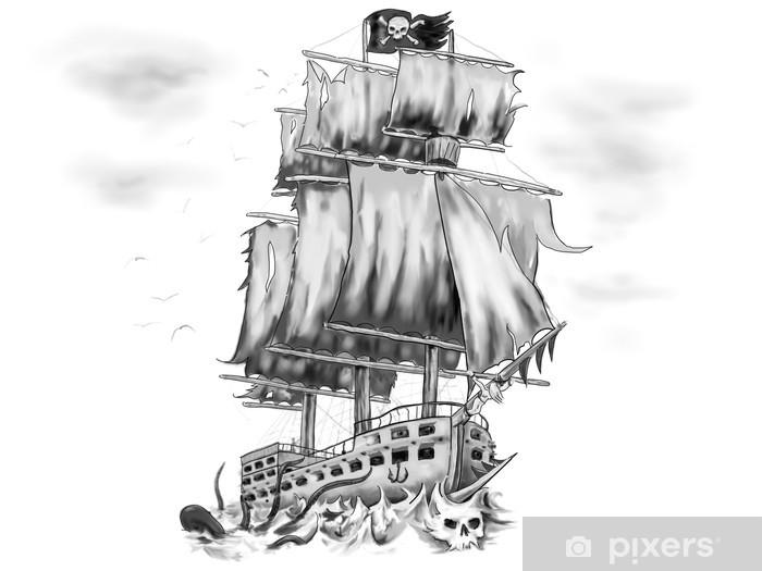 Papier Peint Tatouage Oeuvre Bateau Pirate Vaisseau Fantome Pixers Nous Vivons Pour Changer