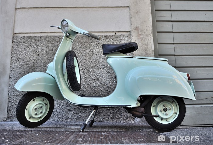 VESPA 50 N del 1965 Pixerstick Sticker - On the Road