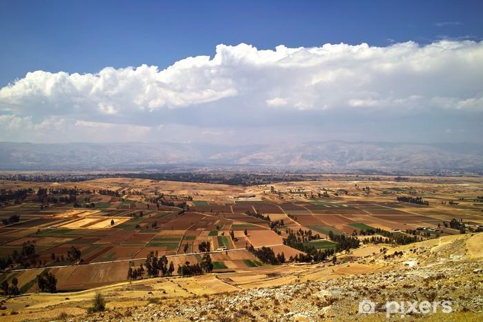 Sticker Pixerstick Plateau des Andes à Huancayo, au Pérou - Amérique
