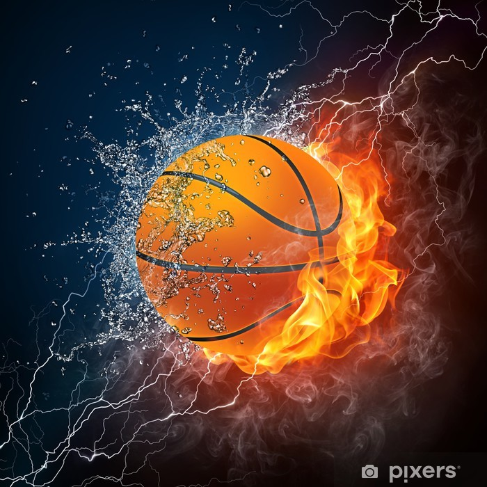 Basketball Ball Pixerstick Sticker - Basketball