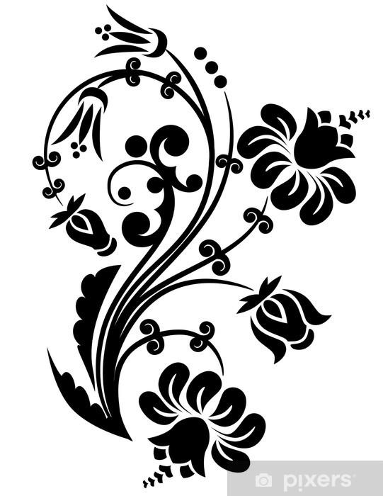 Vinilo Pixerstick Elemento de diseño floral. - Flores
