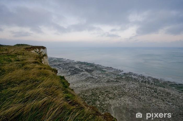 Naklejka Pixerstick Klify Mers-les-Bains - Pikardia Coast - Woda