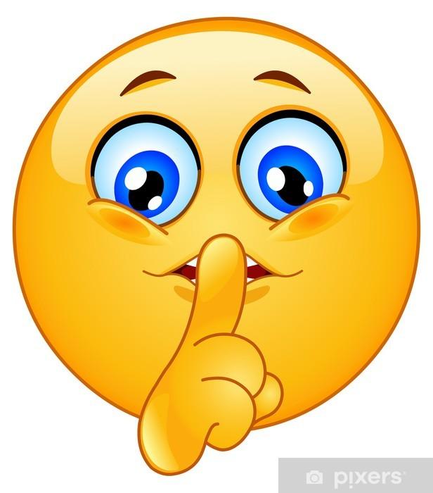 Hush emoticon Pixerstick Sticker - Other Feelings