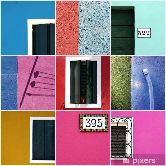 Plakat Kolory Burano Wenecji - Miasta europejskie