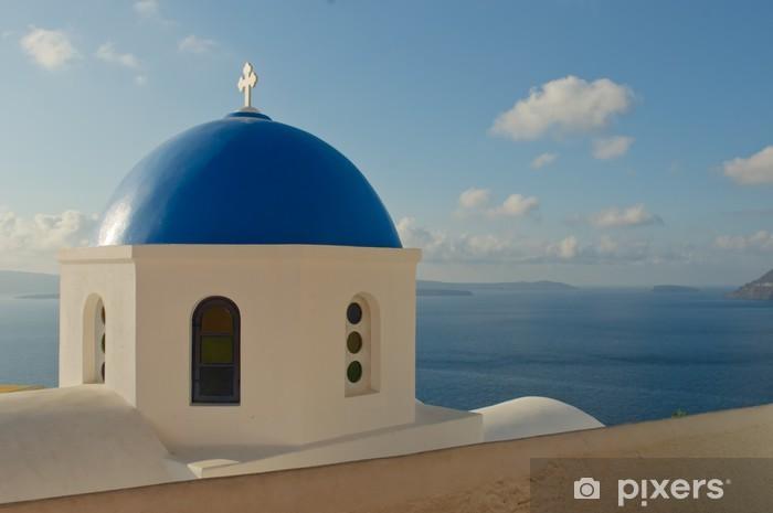 Papier peint vinyle Église grecque à l'île de Santorin - Europe
