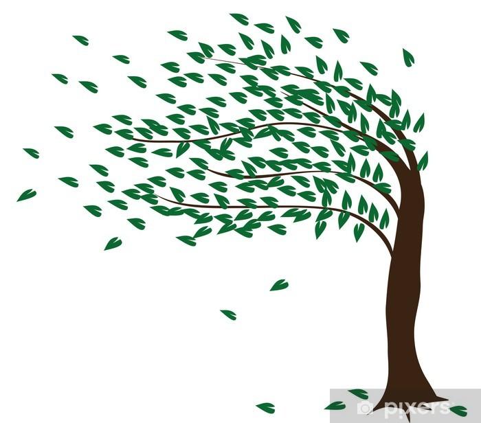 Plakat Drzewo na wietrze - Naklejki na ścianę