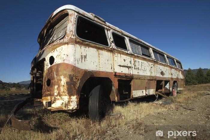 Fototapeta winylowa Magia autobusem 2 - Transport drogowy