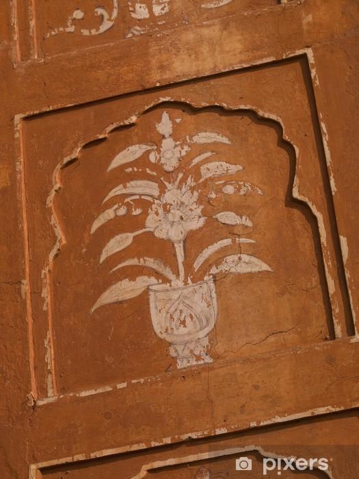 Naklejka Pixerstick Szczegóły architektoniczne, Jaipur, Radżastan, Indie - Criteo