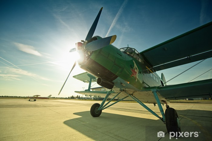 Vinyl-Fototapete Antonow AN2 - Luftverkehr