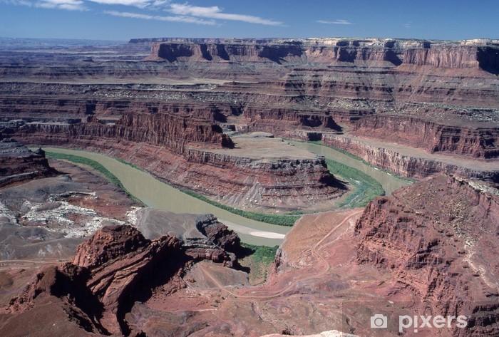 Vinilo Pixerstick La muerte del punto del caballo en Canyonland, Utah - Agua