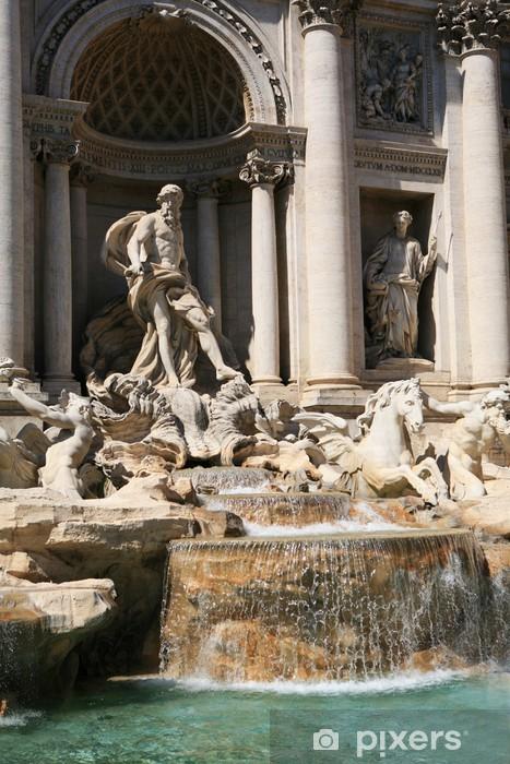 Papier peint vinyle Fontana di Trevi, Rome - Villes européennes