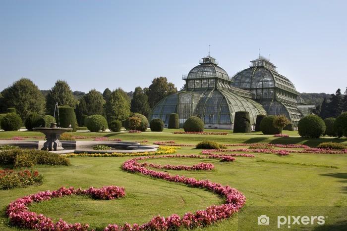 Naklejka Pixerstick Wiedeń - szklarnia przez Pałac Schönbrunn - Miasta europejskie