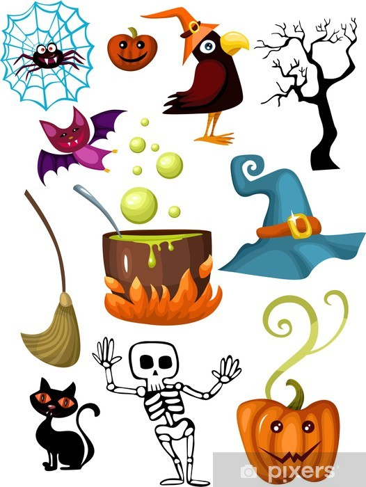 Sticker Pixerstick Halloween ensemble - Fêtes internationales