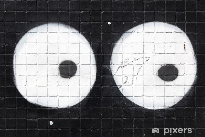 Pixerstick Sticker Yeux graffiti scruter acht drôle - Hobby's en Vrije tijd