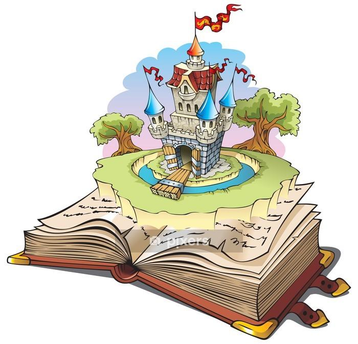 Adesivo da Parete Magico mondo delle favole, illustrazione vettoriale cartone animato - Adesivo da parete