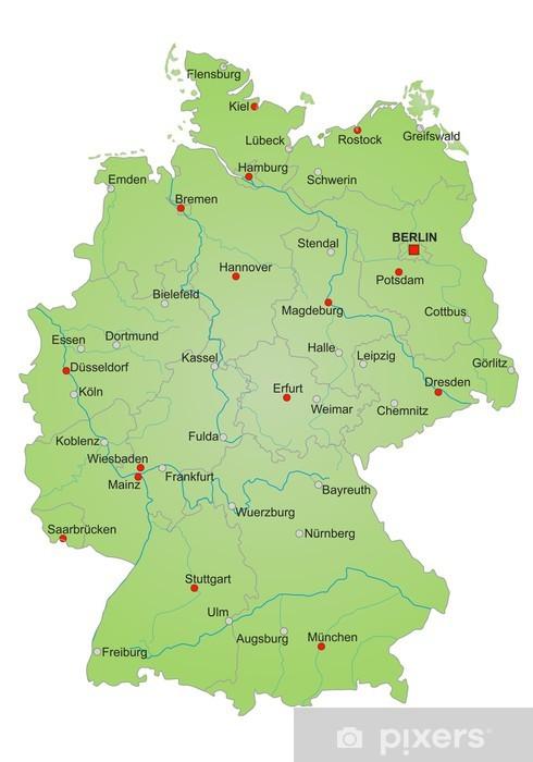 Karte Deutschland Vektor Wall Mural Pixers We Live To Change