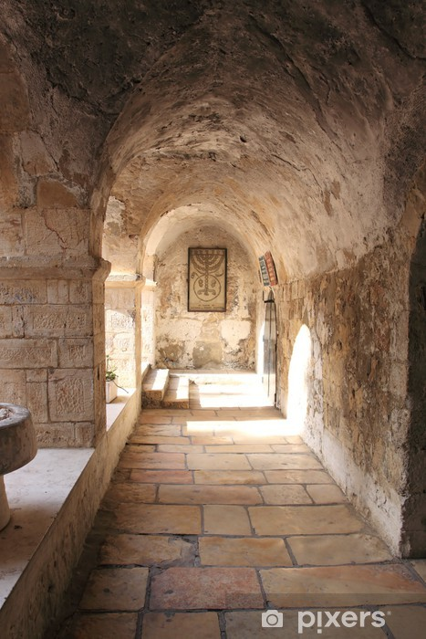 Ancient Alley in the Jewish Quarter, Jerusalem, Israel Vinyl Wall Mural - Themes
