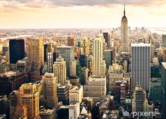 Naklejka na drzwi Panoramę Nowego Jorku - Style